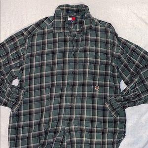 Tommy Hilfiger Green Plaid Button Down Shirt